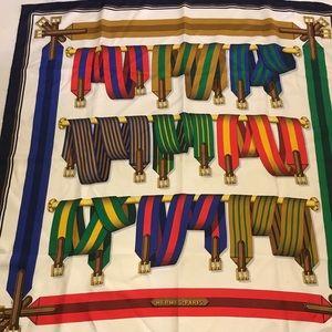 HERMÈS Multicolor Paris Belt and Buckle Silk Scarf